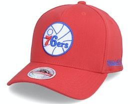 Philadelphia 76ers Dropback Solid Red Adjustable - Mitchell & Ness