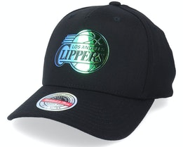 Los Angeles Clippers Slick Black Adjustable - Mitchell & Ness
