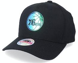 Philadelphia 76ers Slick Black Adjustable - Mitchell & Ness