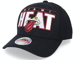 Miami Heat Billboard Black Adjustable - Mitchell & Ness