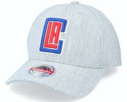 LA Clippers Team Heather Grey Adjustable - Mitchell & Ness