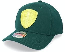 New York Nets Green Dream Dark Green Adjustable - Mitchell & Ness