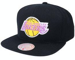 LA Clippers Wool Solid Black Snapback - Mitchell & Ness