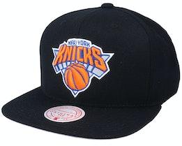 New York Knicks Wool Solid Black Snapback - Mitchell & Ness