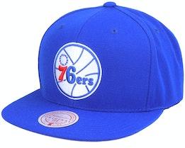 Philadelphia 76ers Wool Solid Royal Snapback - Mitchell & Ness
