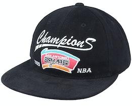 San Antonio Spurs Champs Deadstock Black Snapback - Mitchell & Ness