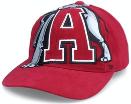 Alabama Crimson Tide U. Of Alabama Ncaa Big Logo Deadstock Red Adjustable - Mitchell & Ness