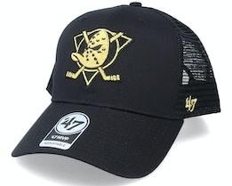 Anaheim Ducks Branson Metallic Mvp Black/Gold Trucker - 47 Brand