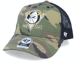 Anaheim Ducks Branson Camo/Black Trucker - 47 Brand