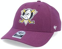 Anaheim Ducks Mvp Plum/White Adjustable - 47 Brand