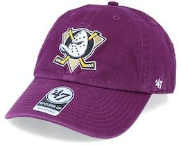 Anaheim Ducks Clean Up Plum/White Adjustable - 47 Brand