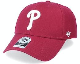 Philadelphia Phillies Mvp Cardinal Red/White Adjustable - 47 Brand