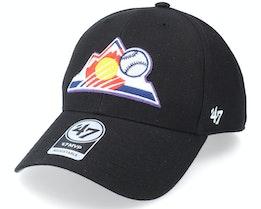 Colorado Rockies Mvp Black Adjustable - 47 Brand