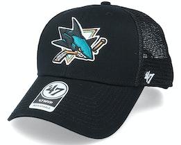 San Jose Sharks Branson Mvp Black Trucker - 47 Brand