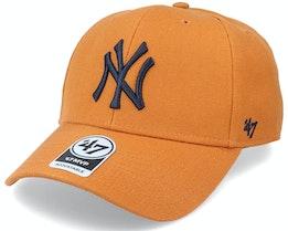 New York Yankees Mvp Burnt Orange/Navy Adjustable - 47 Brand