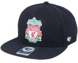 Hatstore Exclusive Liverpool FC Crest Black Snapback - 47 Brand