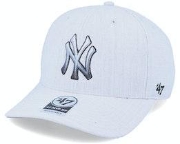 Hatstore Exclusive New York Yankees Falton Grey DP Adjustable - 47 Brand