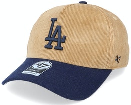 Los Angeles Dodgers Corduroy Mvp DT Khaki/Navy Adjustable - 47 Brand