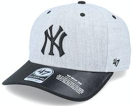 New York Yankees Storm Cloud TT Mvp DP Heather Grey/Black Adjustable - 47 Brand