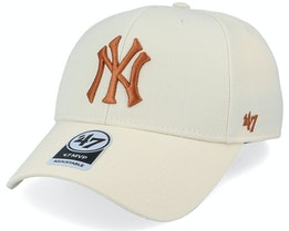 New York Yankees Mvp Natural/Bronze Adjustable - 47 Brand