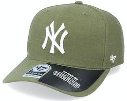 New York Yankees Cold Zone Mvp DP Sandalwood Green/White Adjustable - 47 Brand
