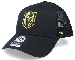 Vegas Golden Knights Branson Metallic Mvp Black/Gold Trucker - 47 Brand