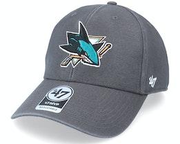 San Jose Sharks Legend Mvp Charcoal Adjustable - 47 Brand