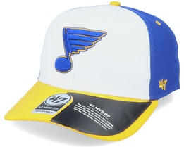 St. Louis Blues Replica Cold Zone Mvp DP White/Royal/YellowAdjustable - 47 Brand
