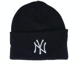 New York Yankees Wordmark Knit Black Cuff - New Era