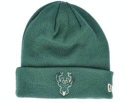Milwaukee Bucks Team Colour Out Line Knit Green Cuff - New Era