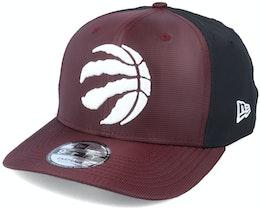 Toronto Raptors Ripstop Front 9Fifty Maroon/Black Adjustable - New Era