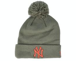 New York Yankees Essential Bobble Olive/Brown Pom - New Era