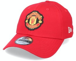Manchester United Side Multi Patch 9Forty Red Adjustable - New Era