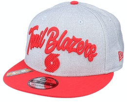 Portland Trail Blazers NBA 20 Draft 9Fifty Heather Grey/Red Snapback - New Era