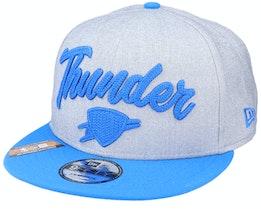 Oklahoma City Thunder NBA 20 Draft 9Fifty Heather Grey/Blue Snapback - New Era