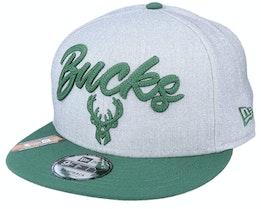 Milwaukee Bucks NBA 20 Draft 9Fifty Heather Grey/Forest Green Snapback - New Era