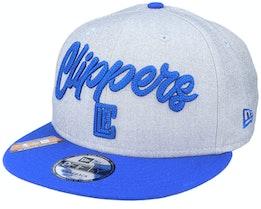 LA Clippers NBA 20 Draft 9Fifty Heather Grey/Royal Blue Snapback - New Era
