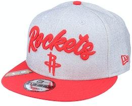 Houston Rockets NBA 20 Draft 9Fifty Heather Grey/Red Snapback - New Era