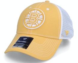 Boston Bruins Sport Resort Struct Yellow Gold/White Trucker - Fanatics