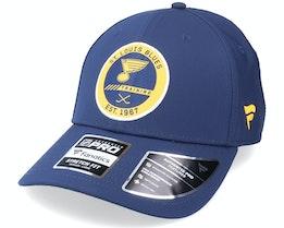 St. Louis Blues Authentic Pro Training Flex Navy Flexfit - Fanatics
