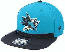San Jose Sharks Locker Room Active Blue Snapback - Fanatics