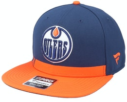 Edmonton Oilers Locker Room Athl Navy Snapback - Fanatics