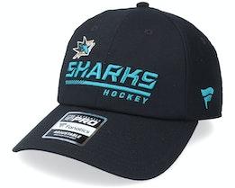 San Jose Sharks Locker Room Black Dad Cap - Fanatics