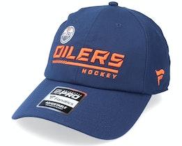 Edmonton Oilers Locker Room Dad Cap Athl Navy Dad Cap - Fanatics