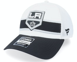 Los Angeles Kings Authentic Pro Draft White/Black Trucker - Fanatics