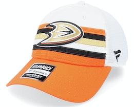 Anaheim Ducks Authentic Pro Draft White/Orange Trucker - Fanatics