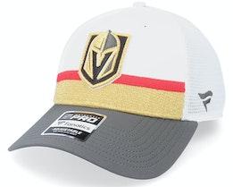 Vegas Golden Knights Authentic Pro Draft White Trucker - Fanatics
