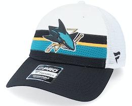 San Jose Sharks Authentic Pro Draft White/Black Trucker - Fanatics