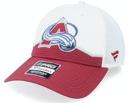 Colorado Avalanche Authentic Pro Draft White Trucker - Fanatics
