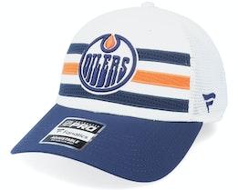 Edmonton Oilers Authentic Pro Draft White Trucker - Fanatics